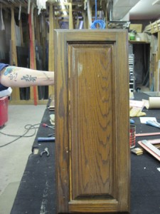 Wood Door Before Picture