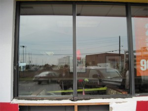 Newly Installed Glass for a Commercial Storefront