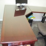 Office Desk Glass Table Top