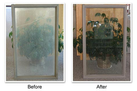 Before & After Glass Window Repair